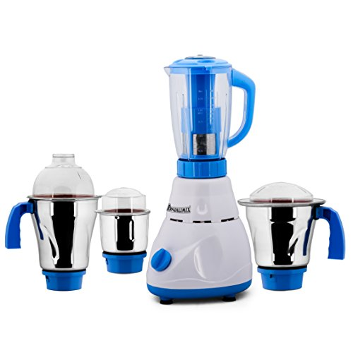 Anjalimix Juicer Mixer Grinder Avion 750 Watts With 4 Jars (white & Blue), Dry, Wet, Chutney, Filter Juicer
