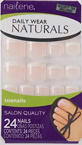 Nailene Daily Wear Naturals (24 uñas postizas para pies) Rosa