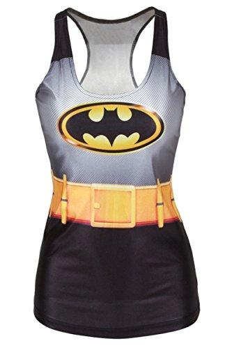 Galaxy Damen-Top, Motiv: Batwomen, Tanktop, Oberteil, Dessous, Nachtwäsche, Unterwäsche, Clubwear, Kleidergröße S/36-38