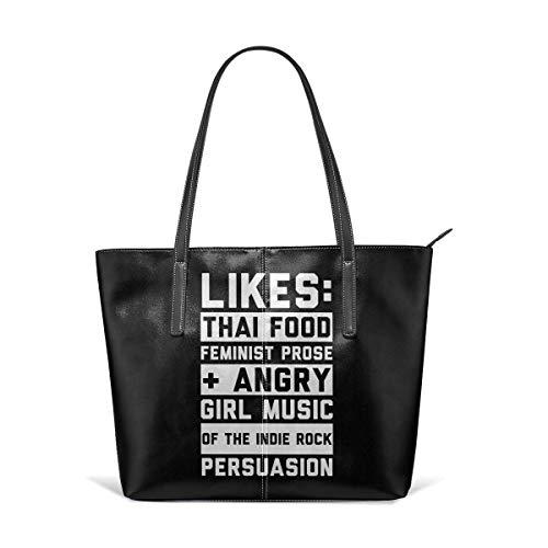 xcvgcxcbaoabo Bolsos de moda Tote Bag Top Handle Shoulder Bags Angry Feminist Vintage Style Soft Shoulder Bag