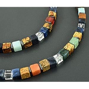 Edelstein-Würfel-Kette mit Kristallen, Würfelkette, Geschenk