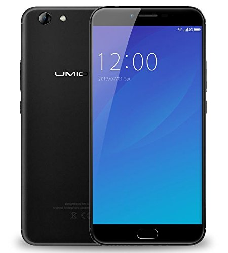 UMIDIGI C NOTE 2 - 5,5 Zoll FHD Gorilla Glas 4 Bildschirm Smartphone, 4GB + 64GB Octa Core 1.5GHz, UMI OS (Android 7.0), 5MP + 13MP 4000mAh Akku - Schwarz