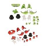 Sharplace 2 Sätze 18 stück Ersatz Gaming Controller Tasten Kit Set Für Xbox One - Rot + Grün