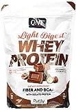QNT Proteine del Siero di Latte con Fibre, Bcaa e Whey Isolate Gusto Cioccolato Nocciola - 0.5 kg