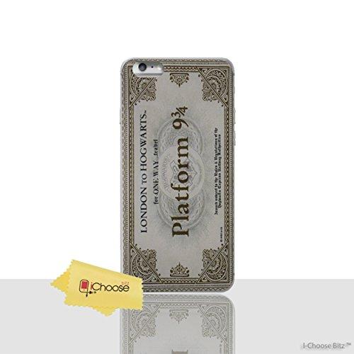 """iPhone 6 Plus/6s Plus Harry Potter Étui en Silicone / Coque de Gel pour Apple iPhone 6S Plus 6 Plus (5.5"""") / Protecteur D'écran et Chiffon / iCHOOSE / Plateforme 9 3/4"""