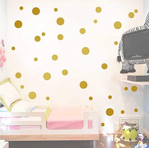 GAOCHUNYU Abnehmbare 126 STÜCKE Tupfen Runde Kreis Kunstwand DIY Wandaufkleber Dekoration Gold Silber Schwarz Rosa Grau Weiß