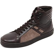 Hogan B7174 Sneaker Uomo Rebel 141 Scarpa Basket Marrone Shoe Man d6f0601ce5a