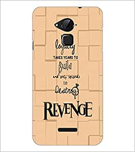 PrintDhaba Quote D-5935 Back Case Cover for COOLPAD NOTE 3 LITE (Multi-Coloured)