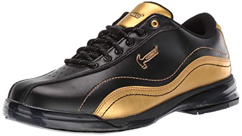 HAMMER Bowling Products Mens Black Widow Gold Performance Bowling Shoes- Right Hand Wide 12, Black/Gold, 12E