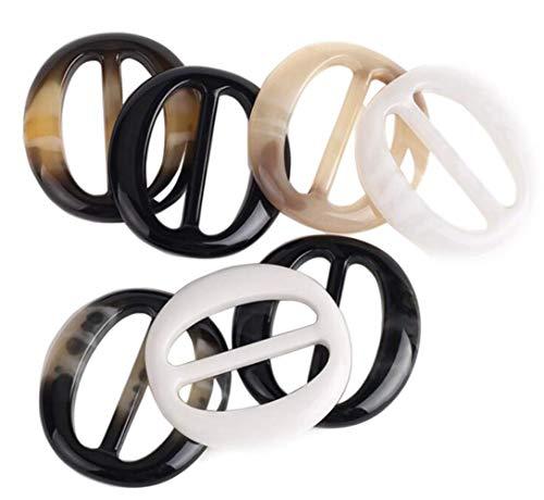 VASANA 6 x 3 cm Kunststoff-Klammern für Schals, Ringe, Schals, Schnallen 4cm/1.6inch Zufällig -