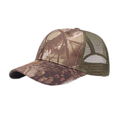 Camouflage Mesh-hut (B-HOT Mesh Cap Camouflage Baseballmützen Sommer Hüte Mütze Golf Camo Fischerhut Kappe Sport und Reisen Kaffee)