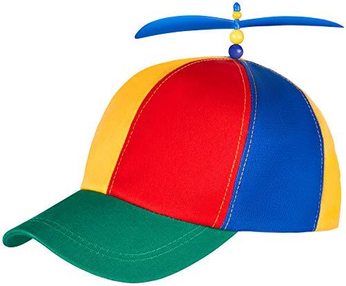 Bunte Propellermütze | Propeller-Mütze | Hubschraubermütze | Hubschrauber-Kappe | Baseball Cap für Erwachsene & Kinder - Größenverstellbar