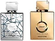 Armaf Club De Nuit - Men & Women 2 Piece Perfumes Set, CDN Sillage 105ML EDP For Him Silver & CDN Mile