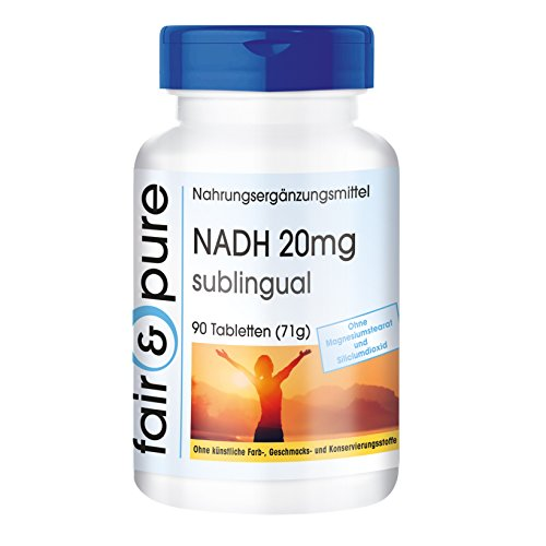NADH 20mg - 90 vegane Tabletten - sublingual