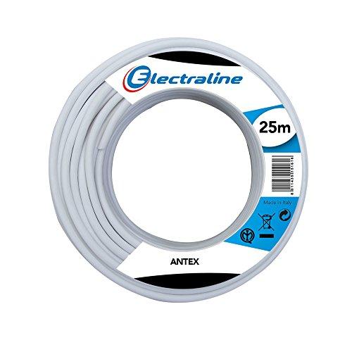 Electraline 18012 Cable coaxial de la antena - 25 Mt - Blanco