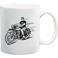 Dude en motocicleta camiseta taza