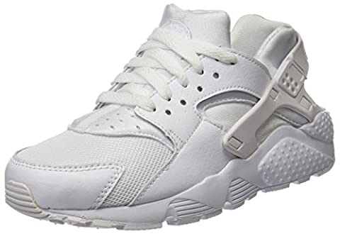 Nike Huarache Run (Gs), Sneakers Basses Mixte Enfant, Blanc (White/White-Pure Gris Platinum), 38.5 EU