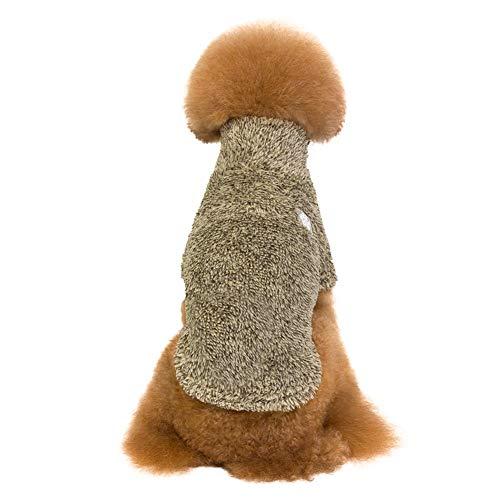 Bluelucon Pullover Hunde Strickpullover Hundepullover Welpen Mini Chihuahua Teacup Welpengröße S/M/L/XL/XXL Army Green,Wine - Pelz Mini Kostüm
