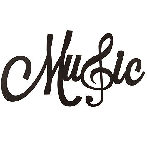 Musik Wort Wand Dekor mit Violinschlüssel -
