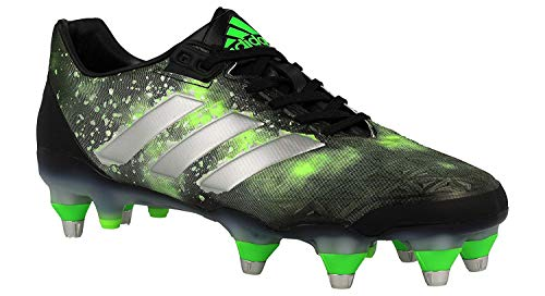 Sg Rugby Stiefel (adidas Adipower Kakari SG Herren Rugby-Stiefel, Schwarz-(Negbas/Plamet/Versol) 391/3)
