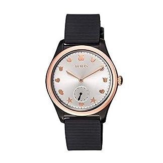 Reloj Tous 900350085 Free Fresh de Acero IP Rosado y policarbonato con Correa de Silicona Negra