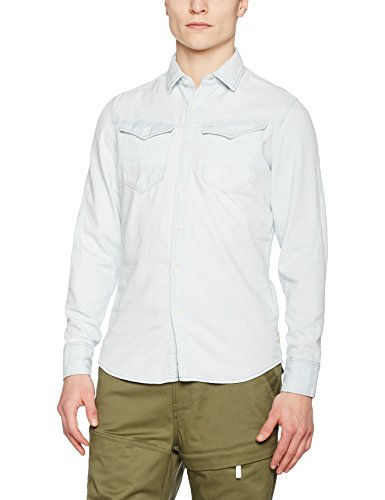 G-Star - Chemise casual - Taille normale - Manches longues - Homme Multicolore (Lt Aged Restored 123 8088)