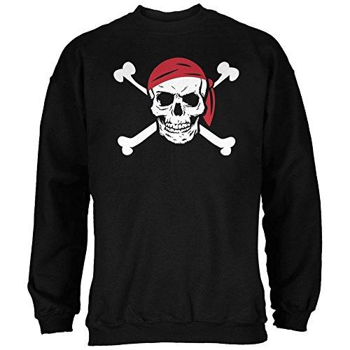 Jolly Roger Pirat Kostüm schwarz Erwachsene Sweatshirt Gr. xl, Schwarz