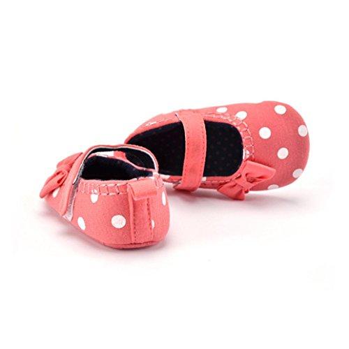 Jamicy® Baby Mädchen Sneaker süße weiche Sohle Kleinkind Anti-Rutsch Leinenschuhe Rosa