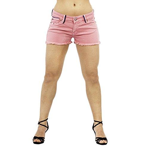 smilodox-damen-jeans-short-hotpant-bermuda-kurze-hose-sommerliche-pastelfarben-grosse27farbehellrot