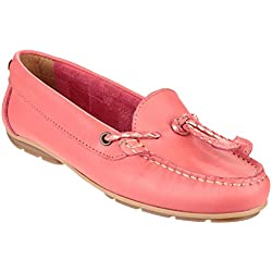 Riva Gorda Ladies Leather Slip On Shoes Coral - 40