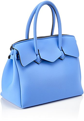 save my bag Miss, Borsa a Mano Donna, Turchese (Zaffiro), 34x29x18 cm (W x H x L)