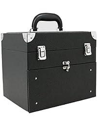Caja de almacenamiento de uñas cosmética,28 compartimentos con cajones Gran capa de gran capacidad