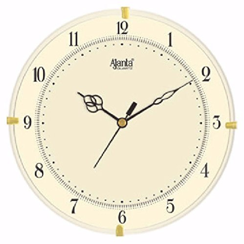 Ajanta Quartz Plastic Wall Clock-897 (28Cm X 28Cm, Ivory)