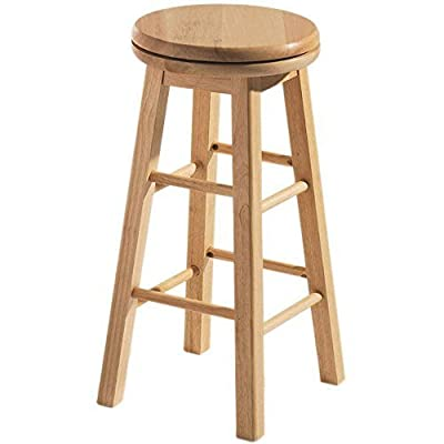 Home Discount® Breakfast Bar Stool Wooden Revolving Kitchen