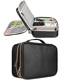 Electrónica de viaje organizador bolsa impermeable de piel sintética, funda de viaje para Digital Cable