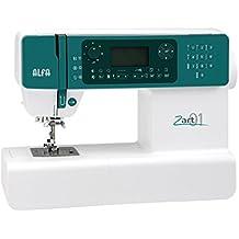 Alfa ZART 01 - Máquina de coser electrónica para patchwork (404 puntadas, 2 alfabetos con símbolos, regulador de velocidad), color verde