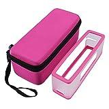 kingko® Soft Cover + Aufbewahrungsbox Tasche für Bose Soundlink Mini III 2 Bluetooth Lautsprecher (Heißes Rosa)