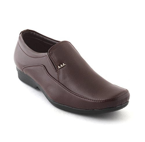 ALESTINO Formal Shoes for Men Leather formal Shoes FD102 (43 UK) Brown image - Kerala Online Shopping