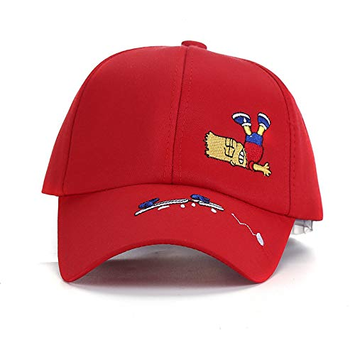 zhuzhuwen Zuckerwatte-Farben-Kappen-Hut-Karikatur-Kind-Stickerei-Sonnenhut Sun-Freizeit-Baseballmütze im Freien 1 Eine Größe