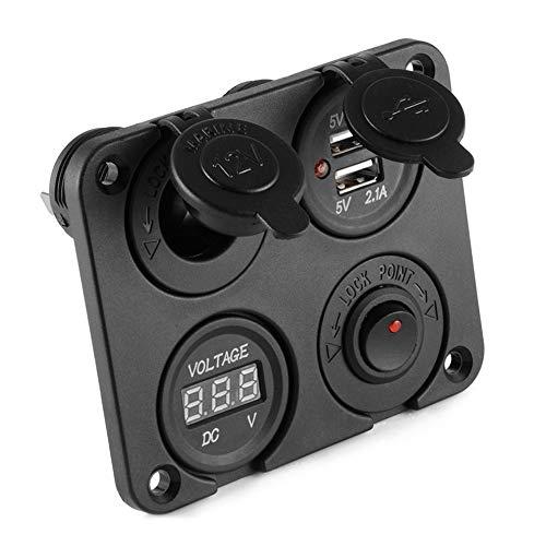 Mouchao Multifunktions-Panel Autotelefon Ladegerät Auto Zigarettenanzünder Auto Voltmeter Screw Terminal Panel