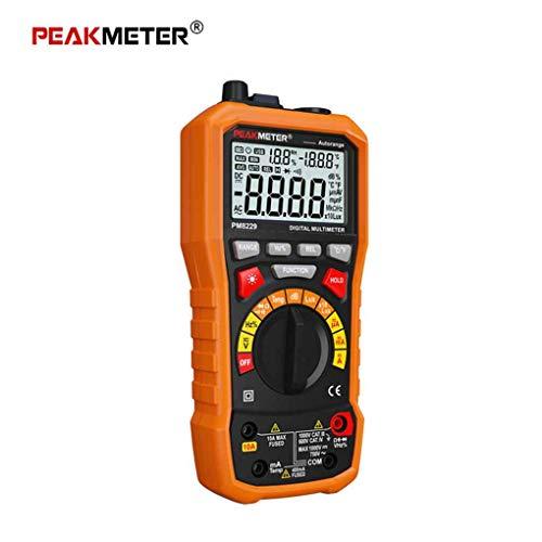 fgghfgrtgtg PEAKMETER MS8229 Multifunktions-Digital-Multimeter Auto/Manuell Ranging Voltmeter Widerstand LCD-Hintergrundbeleuchtung Mess Tester -