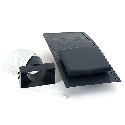 10K Schiefer Dach Fliese Vent Ventilator & Adapter Kit für Auszieherventilatoren, Boden-Rohre - Grey Slate Fliese