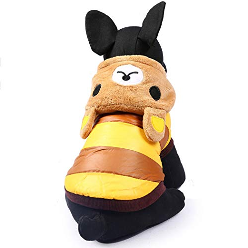 (GJFeng Bär Haustier Baumwolle Welpen Hund Kostüm VIP Teddybär Kleidung Herbst Winter (größe : L))