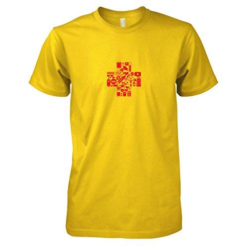 TEXLAB - Medic Gamer - Herren T-Shirt, Größe XXL, gelb