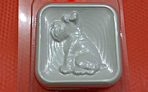 1pc Schnauzer Terrier Hund Tier Haustier Kunststoff-herstellen von Seife Wachs Schokolade Gips Käse-Cookie Gelatin Mold Casting-Nahrungsmittelgrad-Form 75x75x23mm -