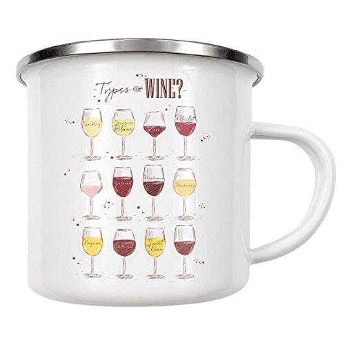 Becher Classic White Wine (artboxONE Emaille Tasse