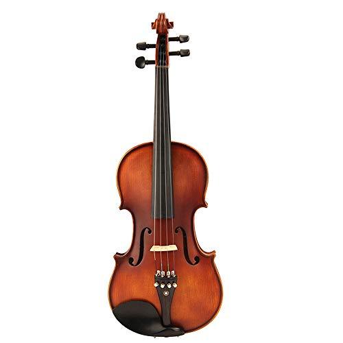 Miiliedy Violino professionale 4/4 a mano in legno massiccio a grandezza naturale per bambini Violino Principianti adulti che suonano violino Strumenti musicali tra cui arco, colofonia, corde, astucci