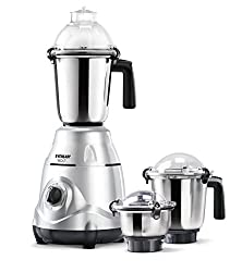 Eveready Bolt 750-Watt Mixer Grinder with 3 Jars (Silver)