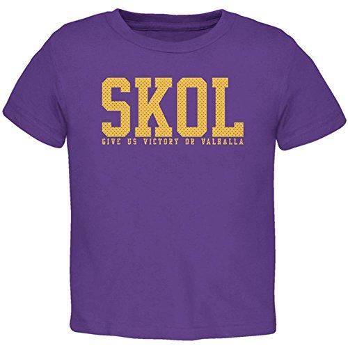 Wikinger Skol Geben Uns Sieg oder Valhalla Kleinkind T-Shirt Lila - Wikinger Kleinkind-shirt