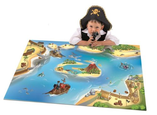 House Of Kids 11221-E3 - Playmat Quadri Pirate Connect, 100 x 150 cm